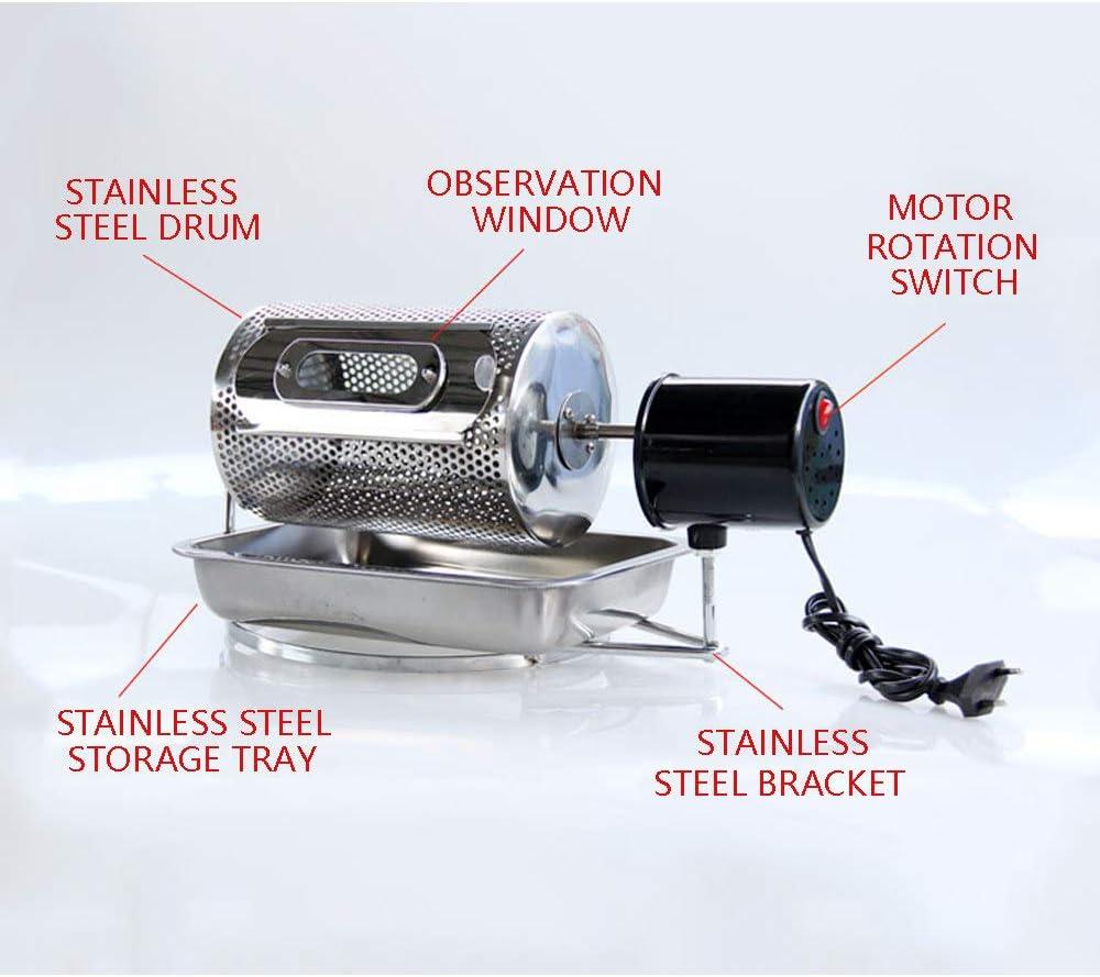 ZRZJBX Mini Tostador De Grano De Caf/é Herramienta De Tostadora De Caf/é De Acero Inoxidable 220v M/áQuina De Caf/é En Grano Tostadora De Caf/é,Thermometer