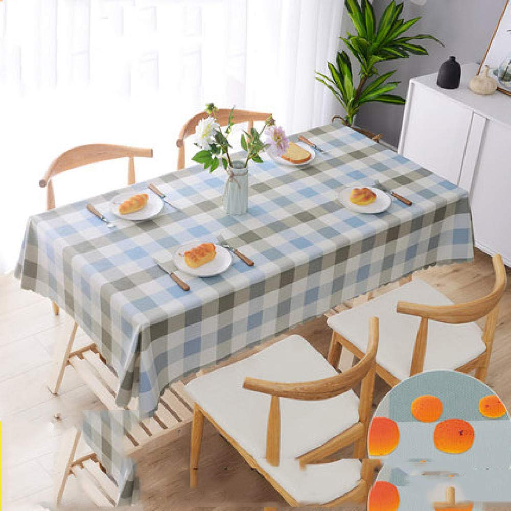 WJJYTX Wachstuch tischdecke, große abwischbare PVC-Vinyl-Tischdecke, die Küchentisch-Abdeckungs-Schutz-Blatt-Quadrat @ 110 * 160 speist