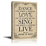 Wall26 - Dance Like Nobody's Watching Quotes | Canvas Prints Wall Art - 32x48 inches