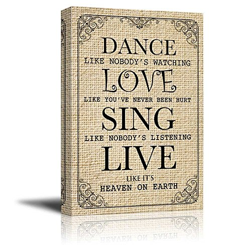 Wall26 Dance Like Nobodyu0027s Watching Quotes | Canvas Prints Wall Art   32x48  Inches