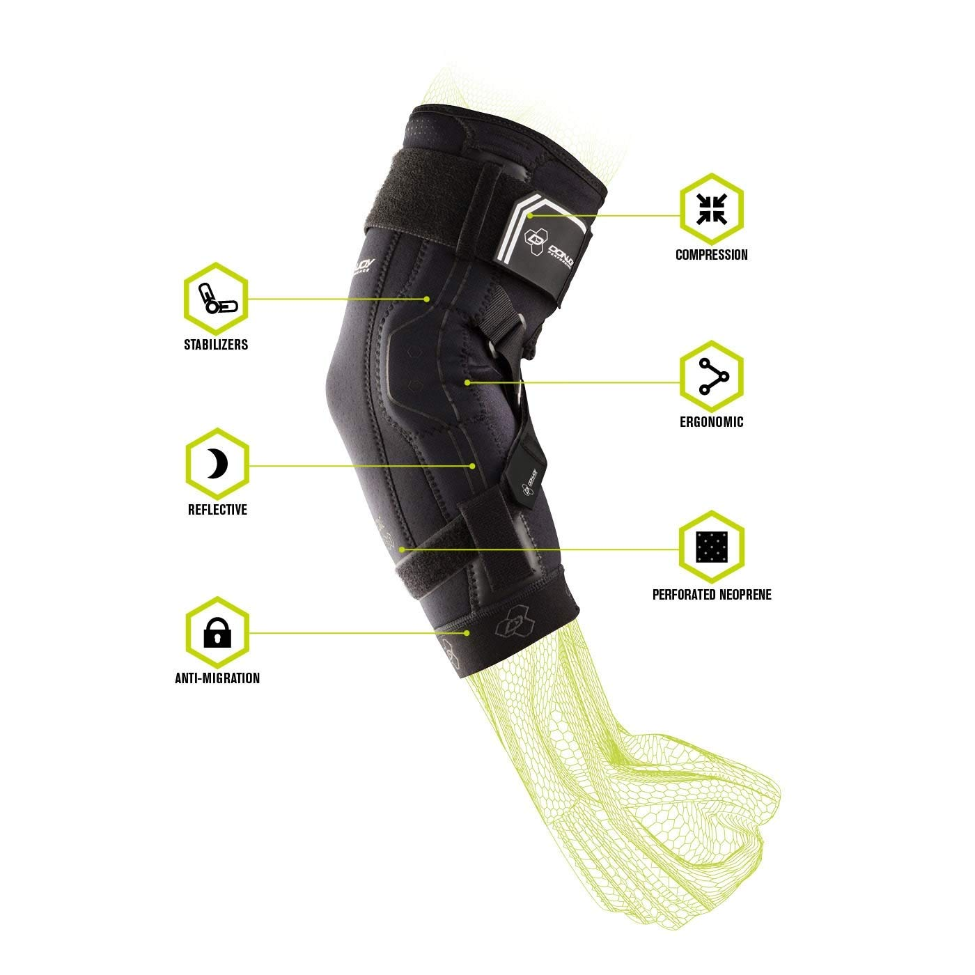 DonJoy Performance Bionic II Elbow Support Brace - New Upgraded Model - (Large) by DonJoy Performance (Image #6)