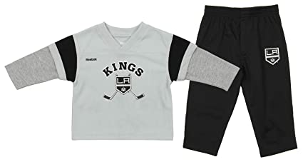 Outerstuff NHL Toddlers Los Angeles Kings Forwards Long Sleeve Tee and  Pants Set 36d54503c