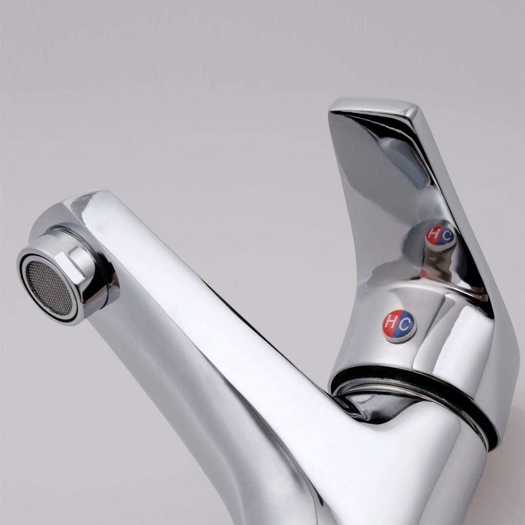 IG Grifo de Lavabo de baño de Cobre Caliente y y Caliente fría Grifo de Lavabo Grifo de Lavabo de manija única de un Solo Orificio 39744d