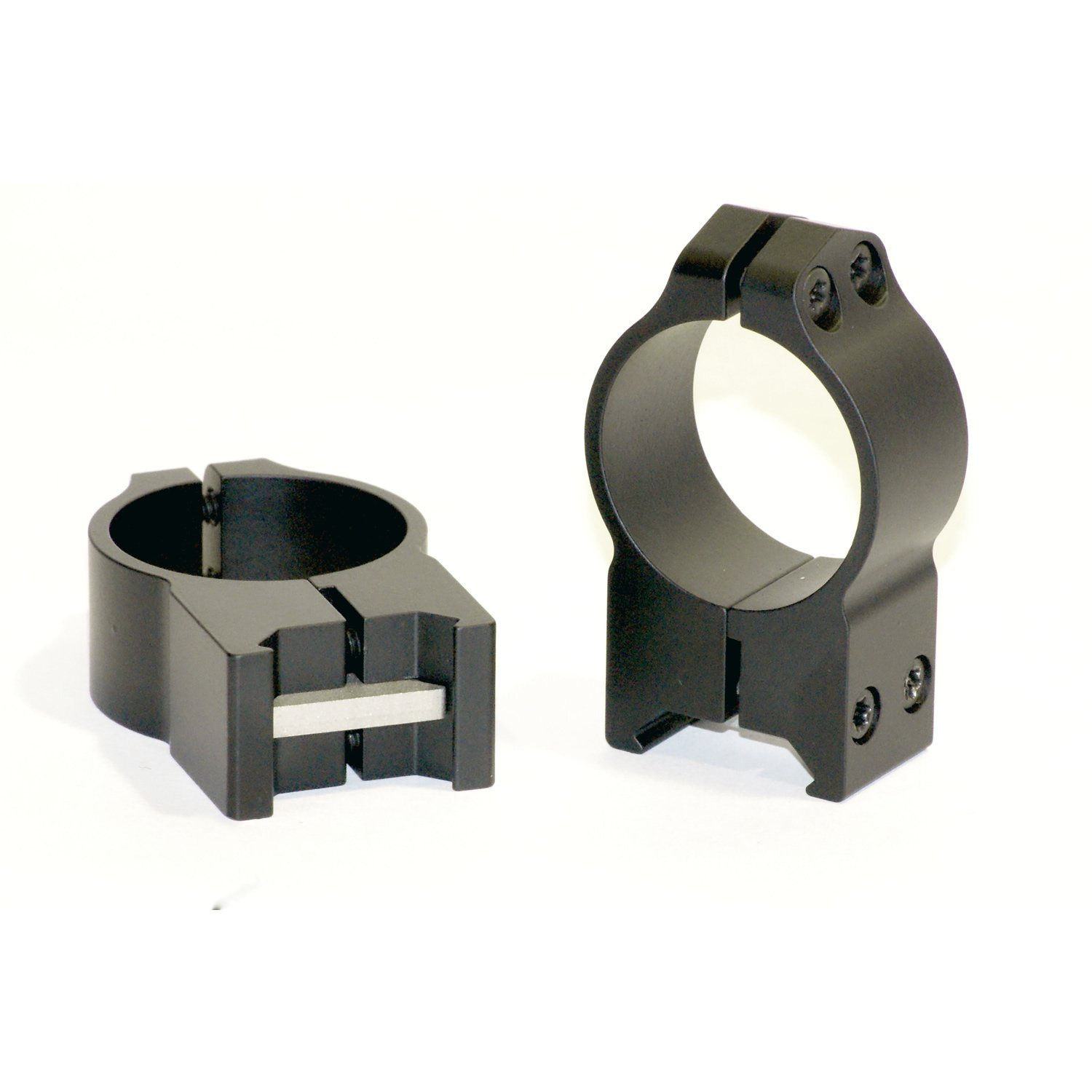 Warnex 40mm Mounts 215M Warnex 40mm Mounts, Maxima Permanent Attachable Weaver Style Rings, 30mm, High Height, Matte Black by Warne Scope Mounts
