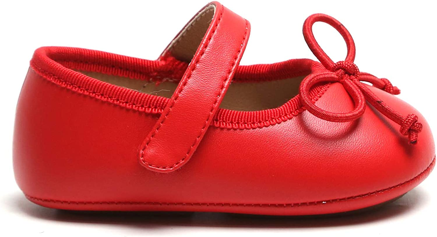 Toddler//Infant Baby Girls Slip-on Soft Sole Pre-Walkiers Flats Dress Shoes