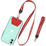 SHANSHUI Phone Leash, Universal Cell Phone Neck Lanyard and Wrist Strap Tether Lasso Patch Compatible with Protection Phone,