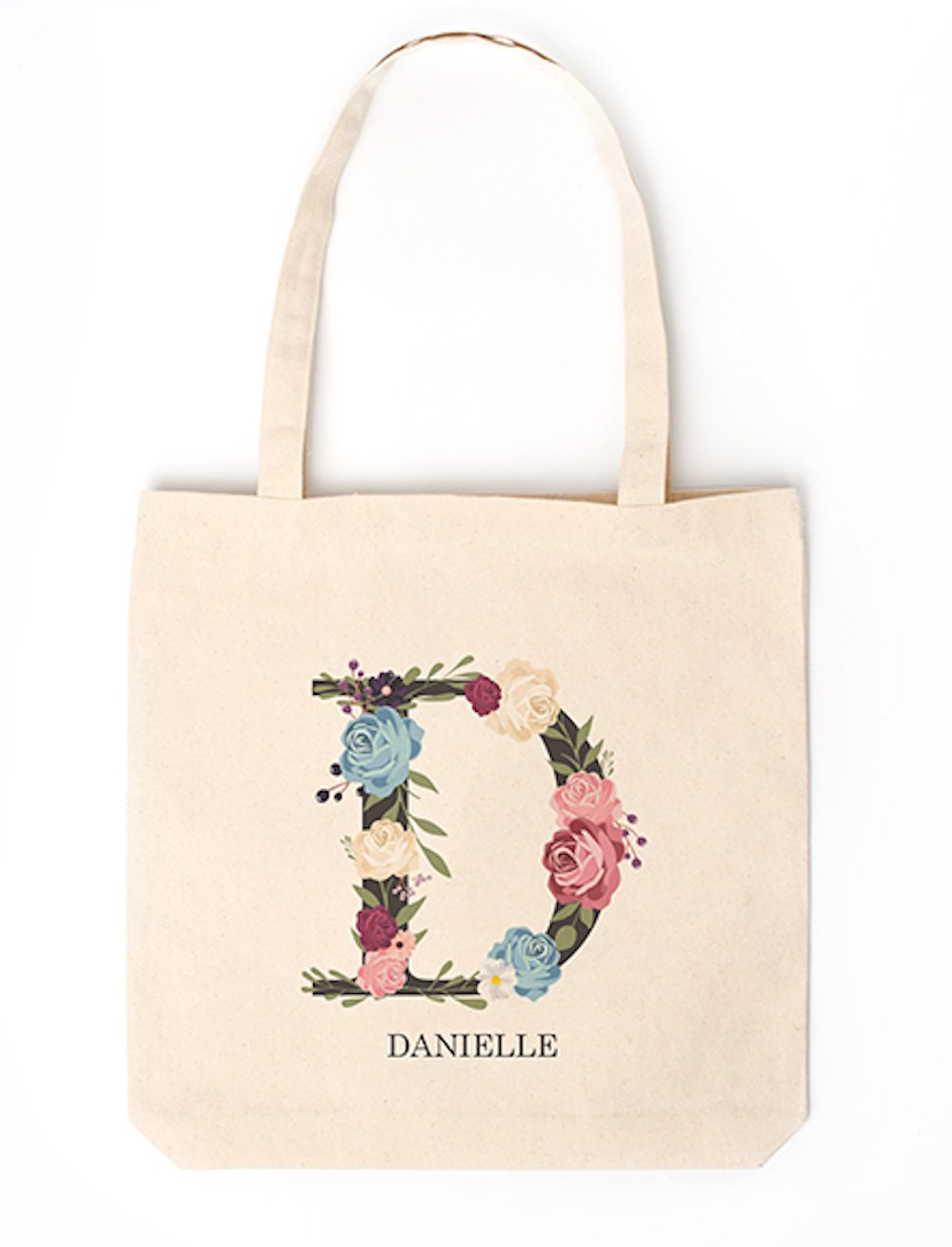 Personalized Monogrammed Tote Bags for Women - Unique Monogrammed Gifts for Women, Also A Gift for Mom (Letter D)