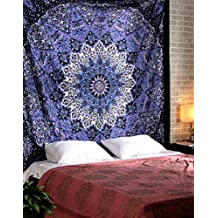 Tapestry Hippy Star Psychedelic Indian Purple Beach Mandala Tapesrty Bohemian Boho Decorative Wall Hangings Large Tapestries Beach Throw Blanket Cotton Bedspread Sheet By Rajrang