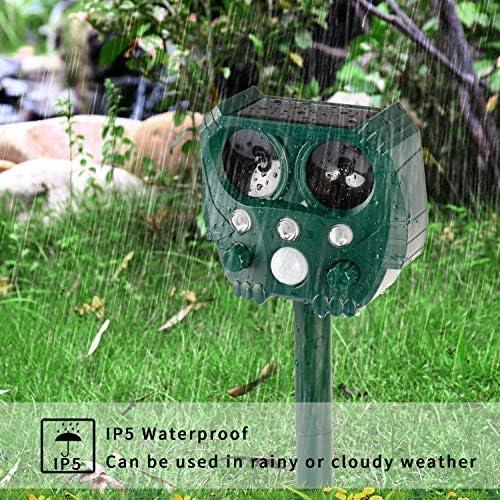 yipin Ultraschall Tiervertreiber Solar Tierabwehr Wasserdicht Abwehr Katzenschreck Hundeschreck Marderabwehr vogelabwehr