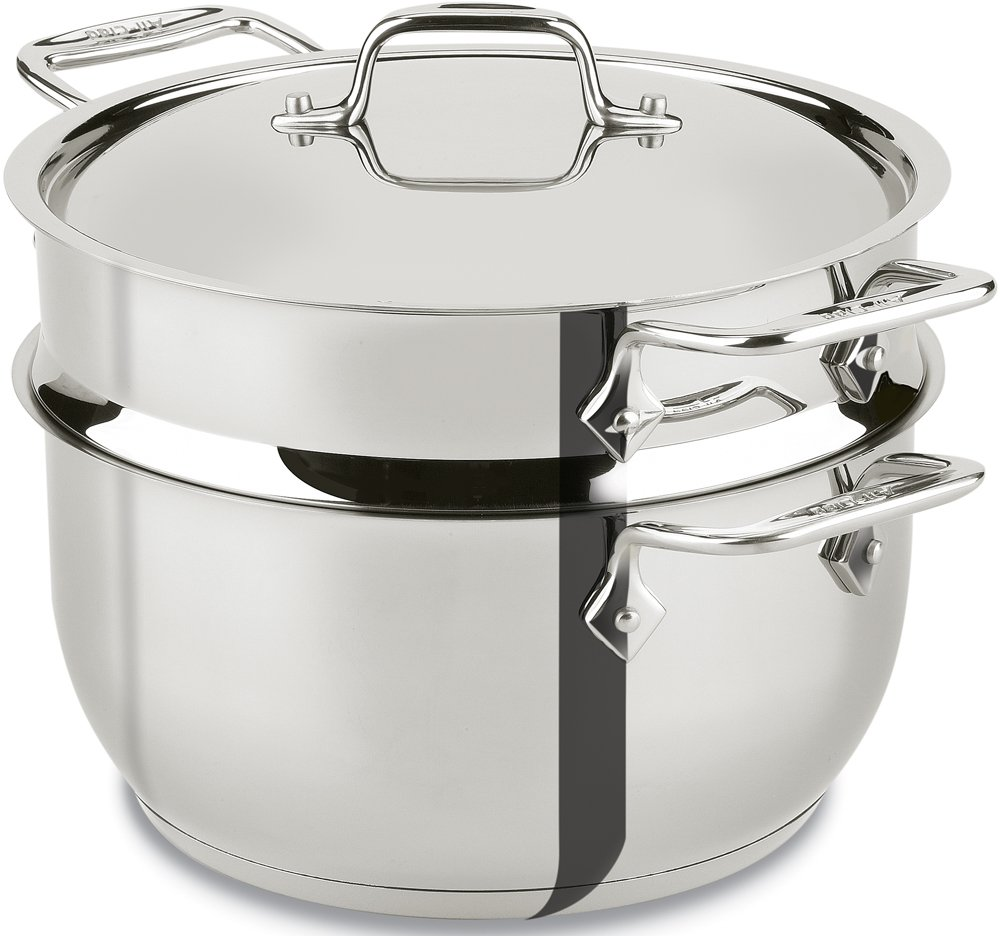 All-Clad E414S564 Stainless Steel Steamer Cookware, 5-Quart, Silver