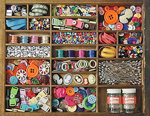 Jigsaw 500 City Piece (Springbok Puzzles - The Sewing Box - 500 Piece Jigsaw Puzzle - Large 18 Inches by 23.5 Inches Puzzle - Made in USA - Unique Cut Interlocking Pieces)
