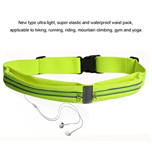 exec Running Belt,Fanny Pack Workout Belt Sports Waist Pack Belt Pouch for Apple iPhone 7 SE Samsung Note Galaxy in Running Walking Cycling Gym with Extender (Green)