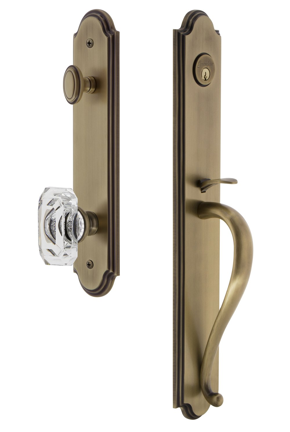 Lot of 10 Dummy Satin Nickel Round Knob Handle Door No Lock Pull