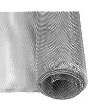 Windhager 03622 Aluminium insectenhor, vliegengaas, aluminium rooster, ideaal voor lichtschachten, robuust, duurzaam, betrouwbare bescherming, zilver, 100 x 120 cm