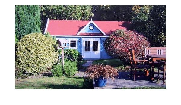 PRIKKER-Gartenhaus Jardín Casa Moor Mer País Bloque casa 425 cm x 365 cm - 45 mm Cenador Madera Hogar Madera Cenador: Amazon.es: Jardín