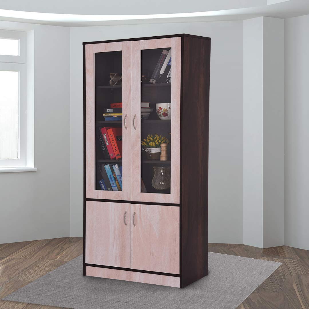 Royaloak Grace Bookshelf 2 Door In Melamine Finish