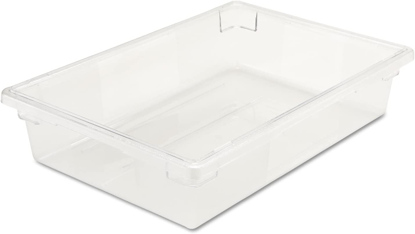 Rubbermaid RCP3308CLE Food/Tote Boxes 8 1/2gal 26w x 18d x 6h Clear
