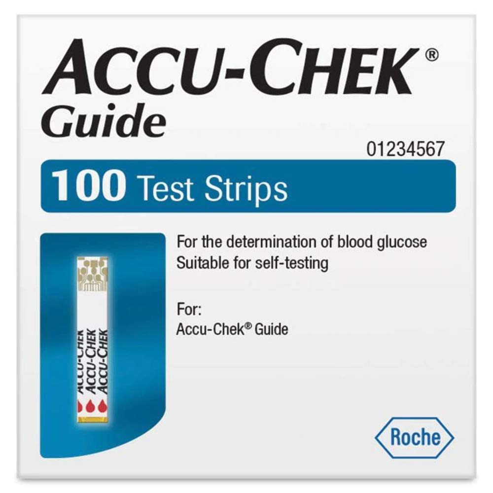 Accu Chek Guide Test Strips 100 by ACCU