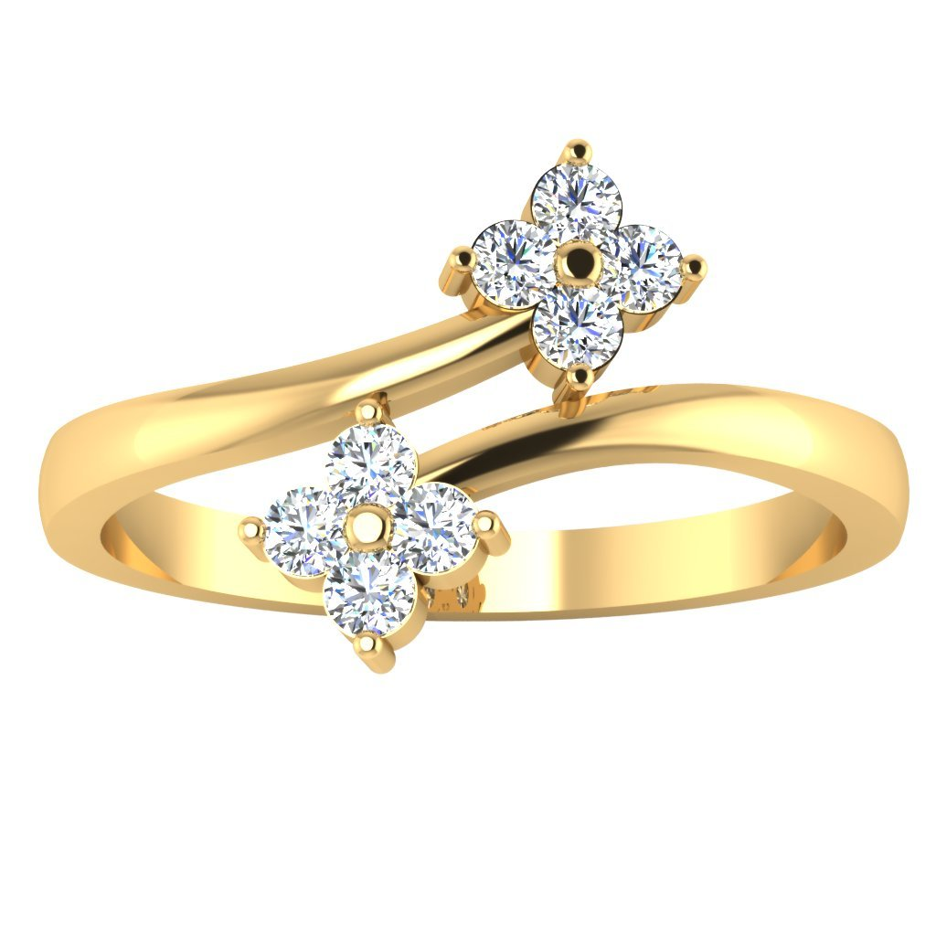 Buy 18K Gold Rings 0.17 carat Round Real Solitaire Diamond Rings Indian  Jewelry For Women (19) at Amazon.in