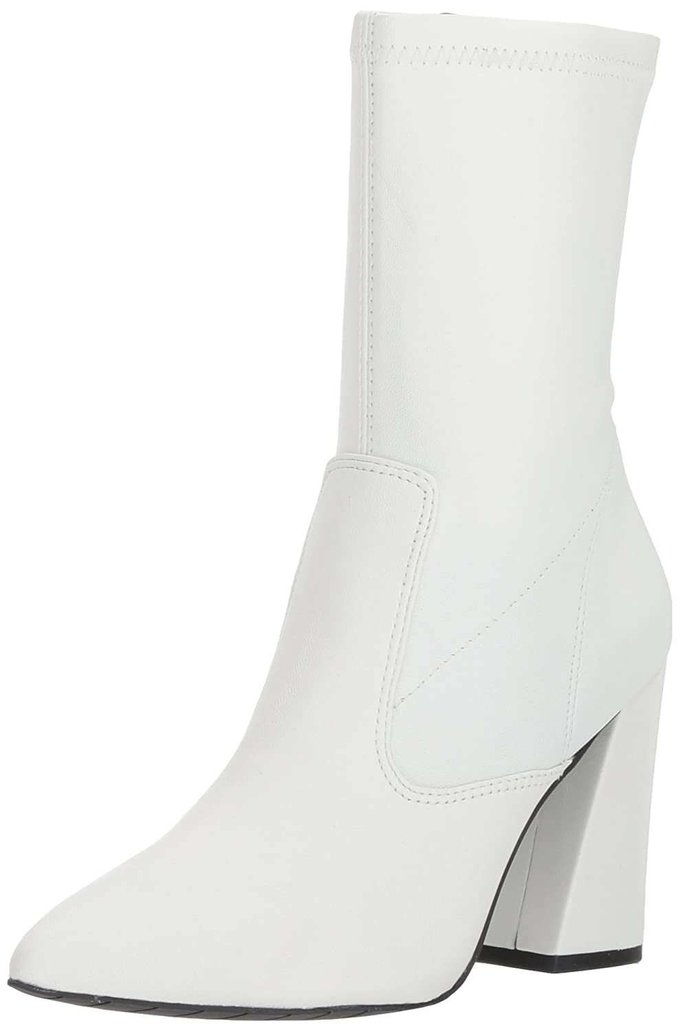Kenneth Cole New York Women's Galla Pointed Toe Bootie with Flared Heel Stretch Shaft Fashion Boot B0754L415Z 10 B(M) US|White
