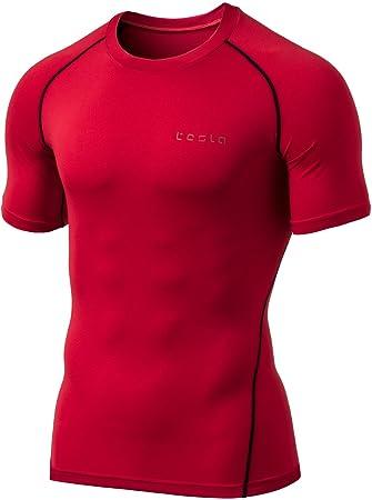 Tesla - Camiseta de compresión para hombre, manga larga, MUB13/MUB03/MUD11