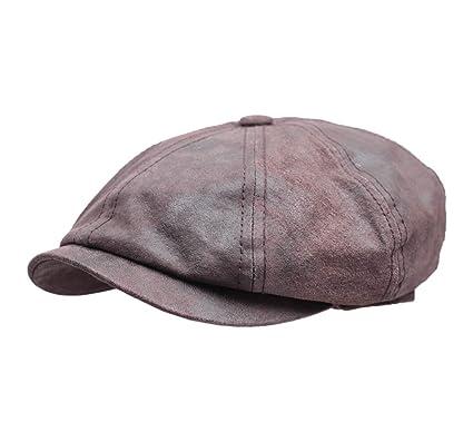 Stetson Men s Hatteras Pigskin Leather Flat Cap at Amazon Men s ... dbe8e8347e3