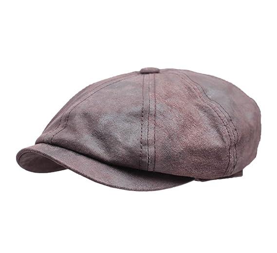 e3a3751bf94 Stetson Men s Hatteras Pigskin Leather Flat Cap at Amazon Men s ...