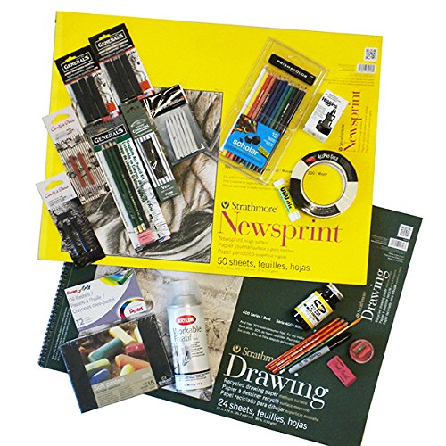Complete Mixed Media Drawing Art Supply Set (curated by Sue Blumendale) by FineArtStore