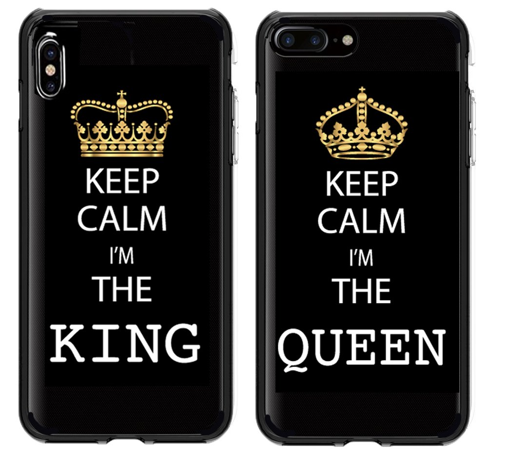 new concept c449d 61c46 Shark King and Queen Matching Couple Cases for (Queen:iPhone X)
