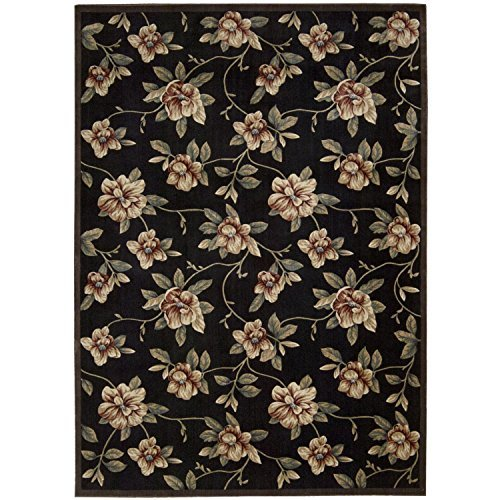 """Nourison Cambridge (CG08) Black Rectangle Area Rug, 7-Feet 9-Inches by 10-Feet 10-Inches (7'9″ x 10'10"""") For Sale"""