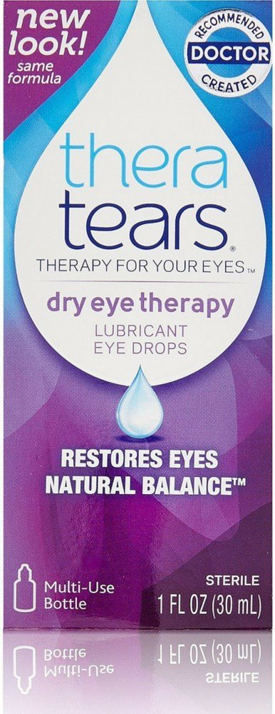 TheraTears Lubricant Eye Drops 1 oz (Pack of 12)
