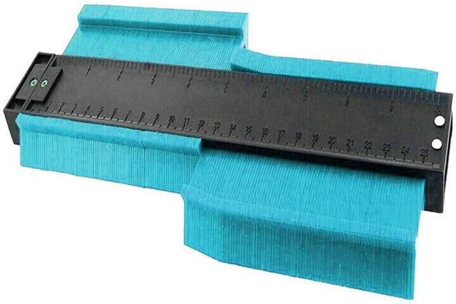 Inkach 9.8 inch 250 mm Plastic Contour Gauge Shape Copy Duplicator Tiling Laminate Tiles Template Tools Plus Size Profile Gauge Red