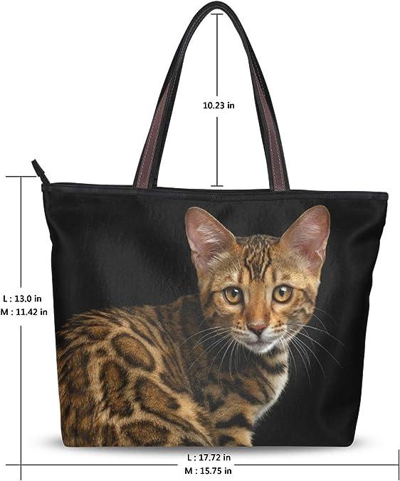 Cat Kitten Handbags Large My Daily Fashion Shoulder Tote Bag for Women