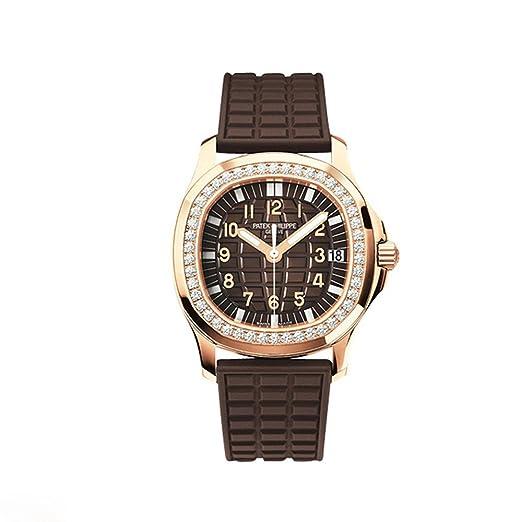 PATEK PHILIPPE Ladies Aquanaut oro rosa Chocolate Diamante Bisel Correa De Caucho: Patek Philippe: Amazon.es: Relojes
