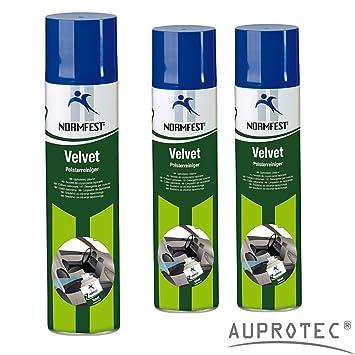 AUPROTEC® Norma fijo acolchado limpiador Velvet Auto Limpieza Papelera – Quitamanchas limpiador Espuma 400 ml