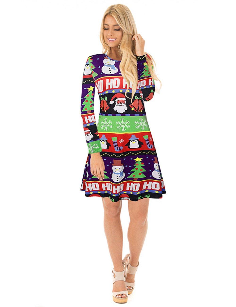 Ruiyige Vestido de fiesta de Navidad Vestido de fiesta de Navidad de la mujer de nieve: Amazon.es: Ropa y accesorios