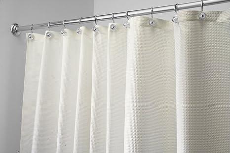 Tende Da Doccia In Lino : Mdesign luxury tenda doccia in tessuto cm naturale