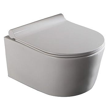 Gut bekannt Lux-aqua 50cm Tiefe Wand Hänge WC Spülrandlos Toilette SoftClose HN11