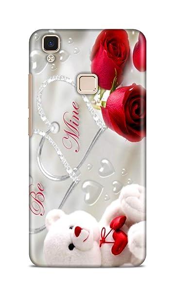Shengshou Mobile Back Cover for Vivo V3 Design Teddy Bear Rose ABC348T31741