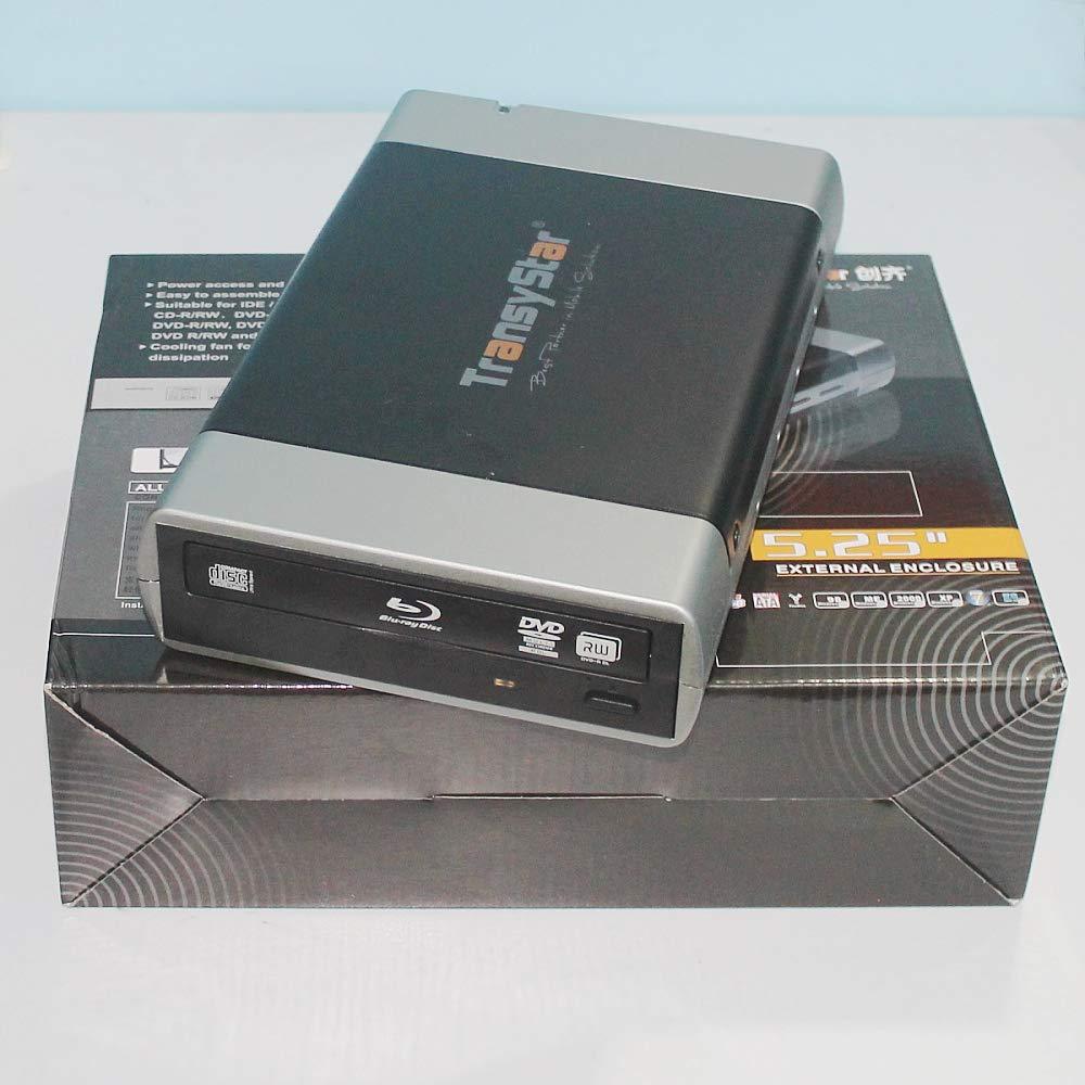 ShineBear External Alloy Portable USB 3.0 and ESATA to SATA Enclosure Case for 5.25'' CD DVD ROM Burner Writer BD DVD CD Box Case - (Cable Length: USB3.0 to SATA) by ShineBear