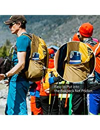 Botella de agua plegable, 750 ml/26 floz, reutilizable, plegable, a prueba de fugas, botella de viaje, para deportes al aire libre, camping, senderismo, gimnasio, entrenamiento de fitness, de silicona de grado alimentario libre de BPA/no tóxico, se puede