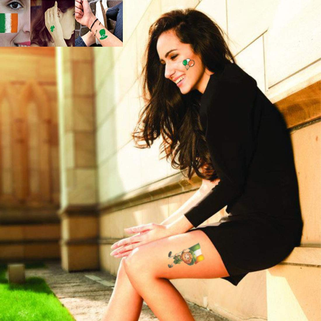 Patricks Day Tattoo Sticker Fits for Shamrock Tattoos Party Favors LOVEIFE St Teacher Prizes Classroom Party Irish Gift Ireland BAR 72 Species 10 Sheet