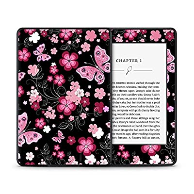 Pink Butterfly Flower Petal Skin for the Amazon Kindle Paperwhite eReader Tablet from STICKNTOIT