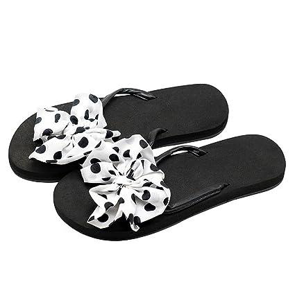 YAnFAn   Sandali Sandali Infradito Slip-On Per Donna Bambina Casual  Confortevole Clip Toe Piatto 6d37160264c