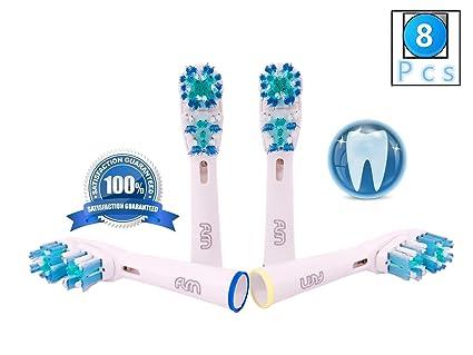 FLM Dual Clean EB417-4 - Cabezal de recambio para cepillo de dientes eléctrico compatibles