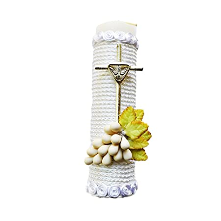 Amazon.com : Handmade Catholic Baptism Kit including Towel, Candle and Shell Kit De Bautizo Religious Gift (Modelo 7, White) : Baby