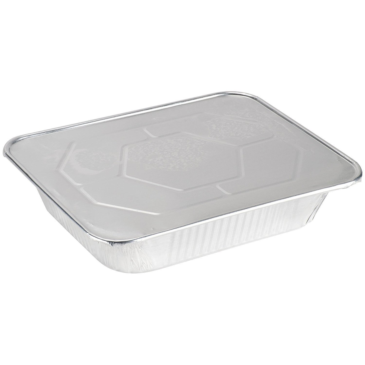 20-Pack of Disposable 9 x 13 Half-Size Deep Aluminum Foil Food Pans with Lid Covers - Eco-Friendly Cooking and Baking Storage Containers - Superior Heat Conductivity for Evenly Cooked Meals & Cakes