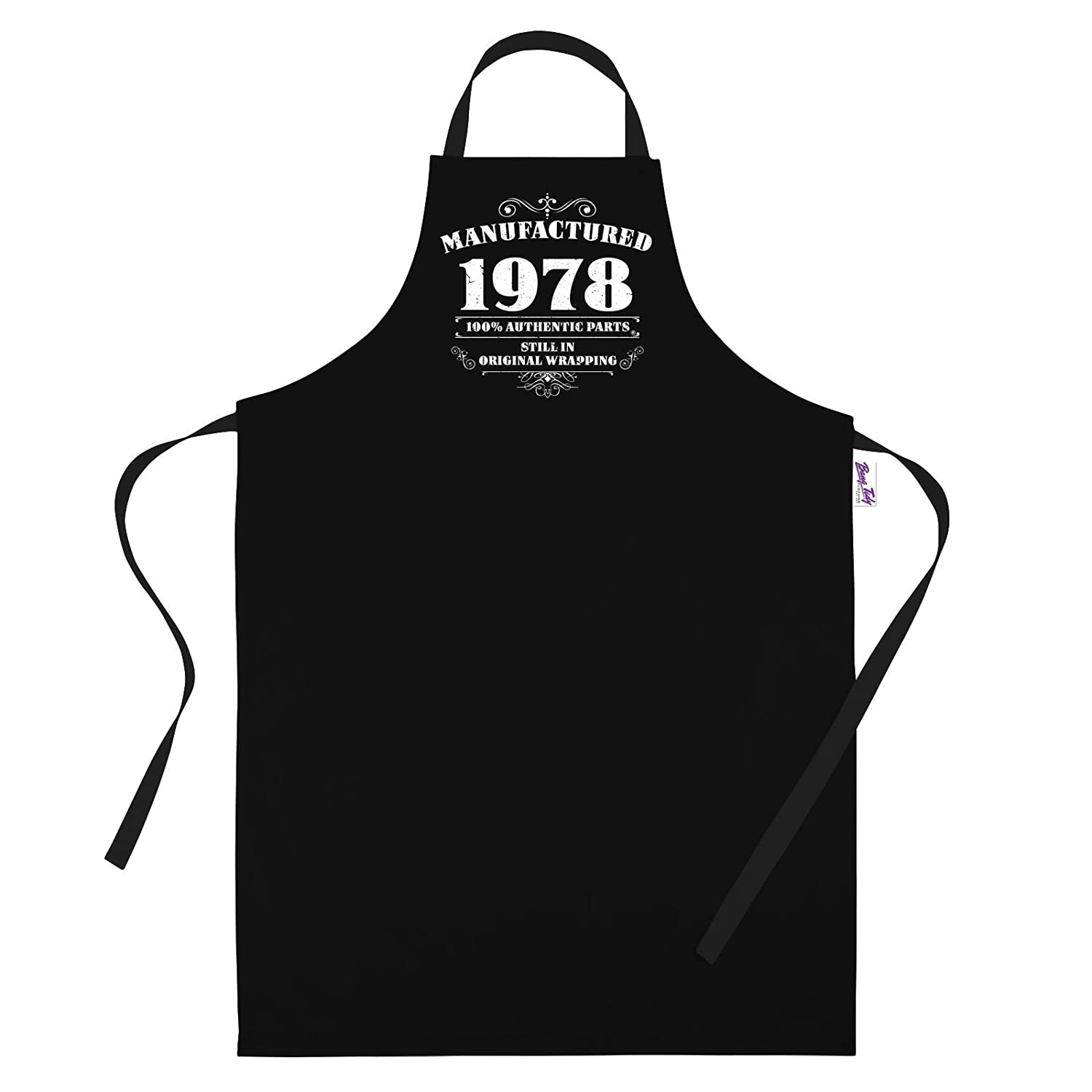 Bang Tidy Clothing 40th Birthday Gifts for Men Him Dad Husband Manufactured 1978 BBQ Cooking Apron RA506