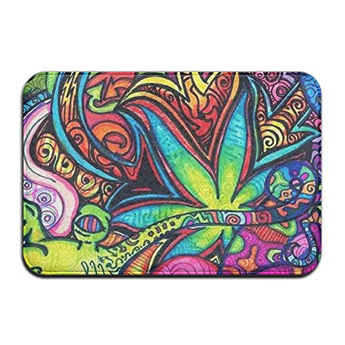 1 Piece Smart Dry Memory Foam Bath Kitchen Mat For Bathroom - Colorful Dye Tie Weed Shower Spa Rug 16x24 Door Mats Home Decor With Non Slip Backing - 3 (Memories Dye)