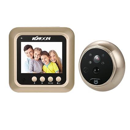 "KKmoon Timbre para Puerta Mirilla 2.4"" LCD 160° PIR Doorbell HD IR Cámara Visión"